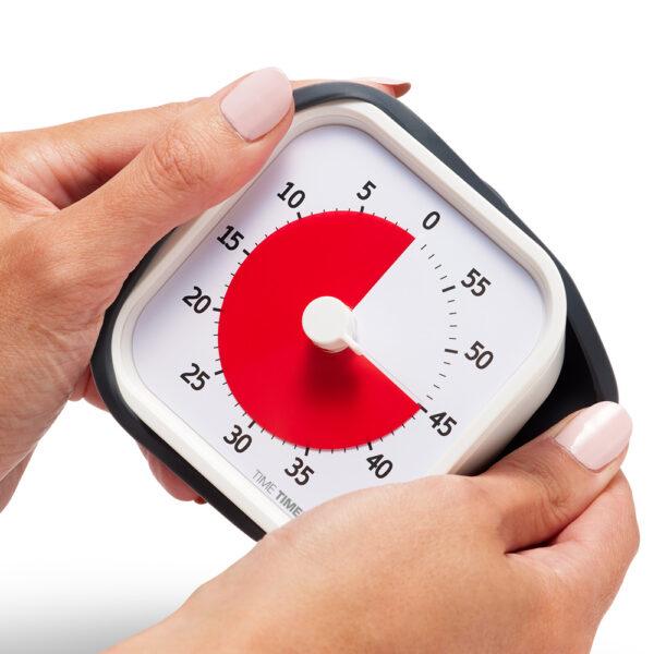 Time Timer MOD är ett visuellt tidshjälpmedel som har ett mjukt silikonskal