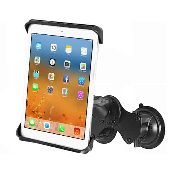 Hållare för iPad Air med dubbelt sugkoppsfäste