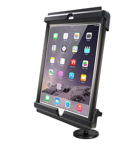 Hållare för iPad Air 1/Air 2/Pro 9,7 i skydd och skruvfäste