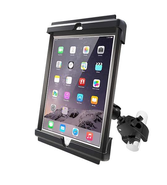 Hållare för iPad Air / Air 2 / Pro 9,7 i skydd med klofäste