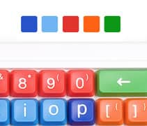 Clevy pedagogiskt tangentbord färgkoder