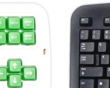 Clevy pedagogiskt tangentbord förstorade tangenter