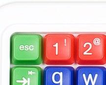 Clevy pedagogiskt tangentbord teckensnitt