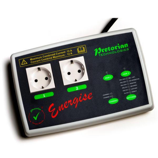 SimplyWorks Energise reläbox för kontaktstyrning av eluttag, t ex elvisp eller symaskin.