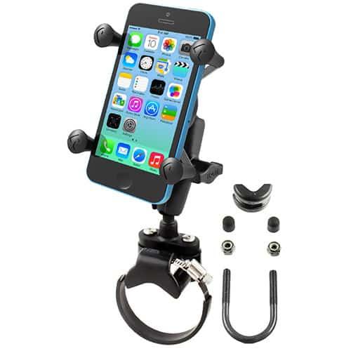 Smartphonehållare med klämringsfäste