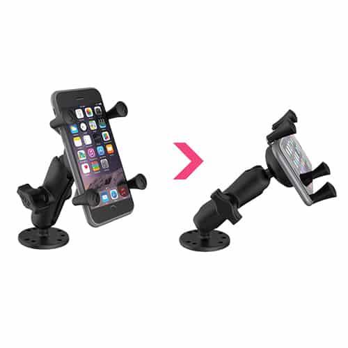 Smartphonehållare med skruvfäste 360 grader