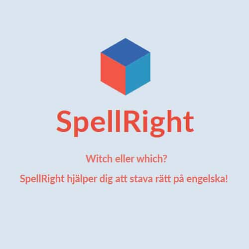 SpellRight rättstavningsprogram för engelsk text