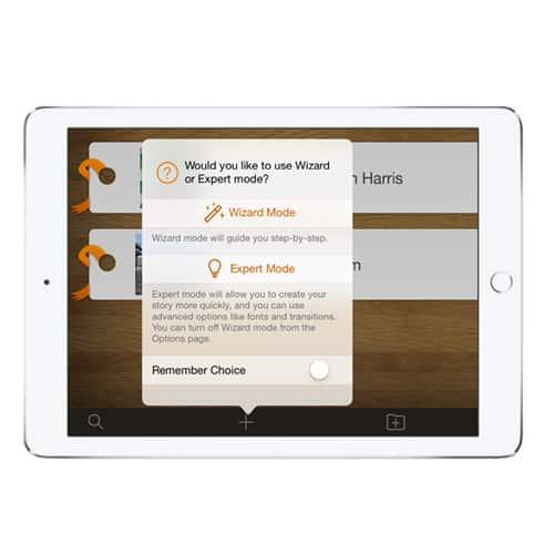 Pictello app - välj om du önskar steg-för-steg-guiden