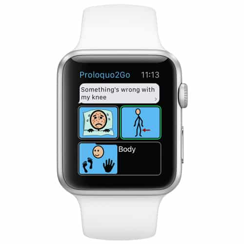 Proloquo2Go app fungerar i Apple Watch