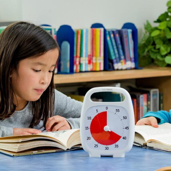 Time Timer Plus vit visuellt tidshjälpmedel klocka i klassrummet