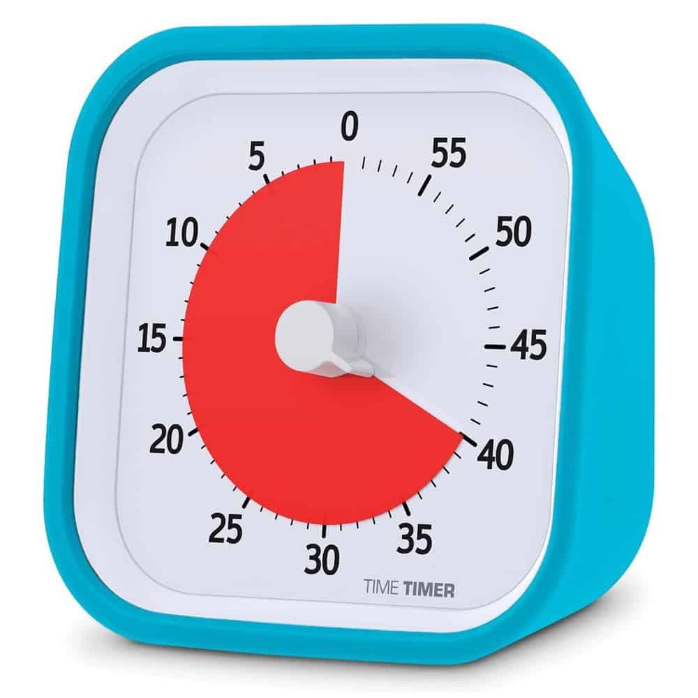 Un orologio con un tempo impostato a 40 minuti