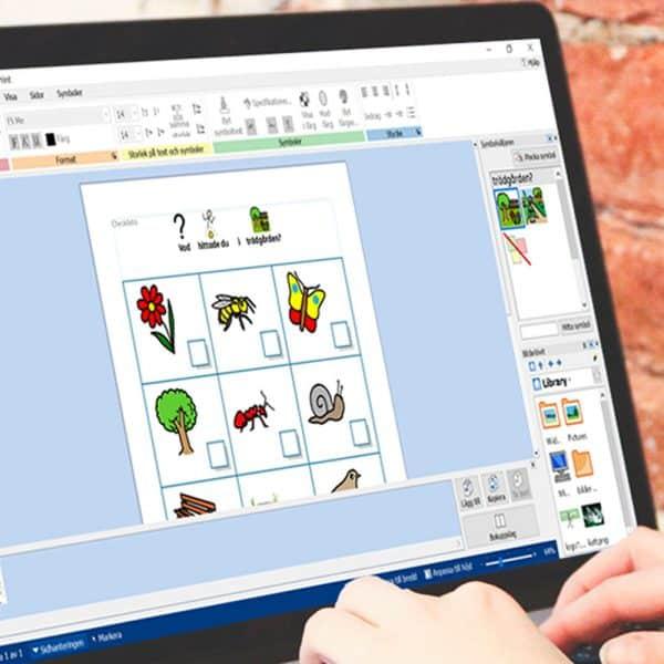 Personer använder InPrint 3 på bärbar dator