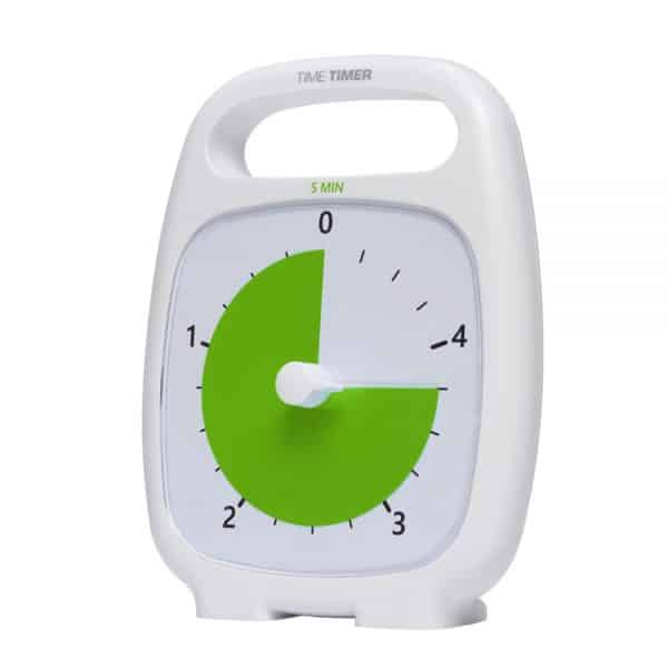 Time Timer Plus 5 min med grön skiva. Visuell timer som är bra för barn med autism, ADHD, Aspergers syndrom m.m. vid kortare arbetspass som t ex tandborstning.