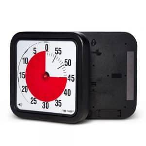 Time Timer Large Magnet är en modell av Time Timer Large med magneter på baksidan. Sätt upp på en whiteboard, kylskåp eller liknande magnetisk yta.