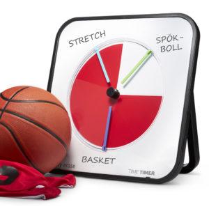 Time Timer MAX på gymnastiklektion med basket.