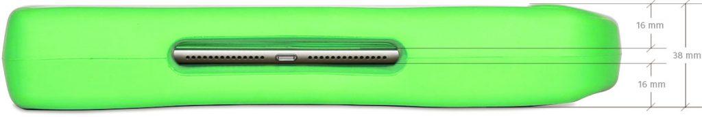 """Big Grips Lift för iPad 7:e gen 10,2"""" uttag för laddare"""