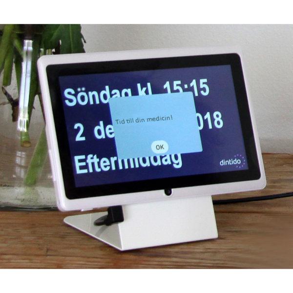 Dintido MED kalenderklocka med påminnelsefunktion för att lägga in upp till sex dagliga påminnelser. Bra för personer med demens eller andra kognitiva funktionsnedsättningar.