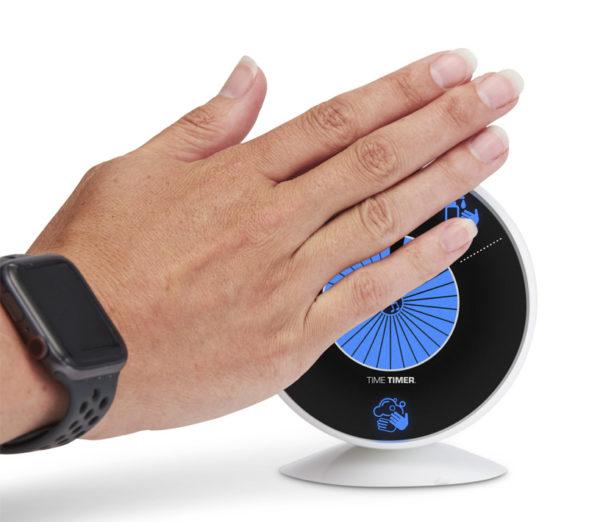 Time Timer WASH är en beröringsfri visuell timer för att handtvätt
