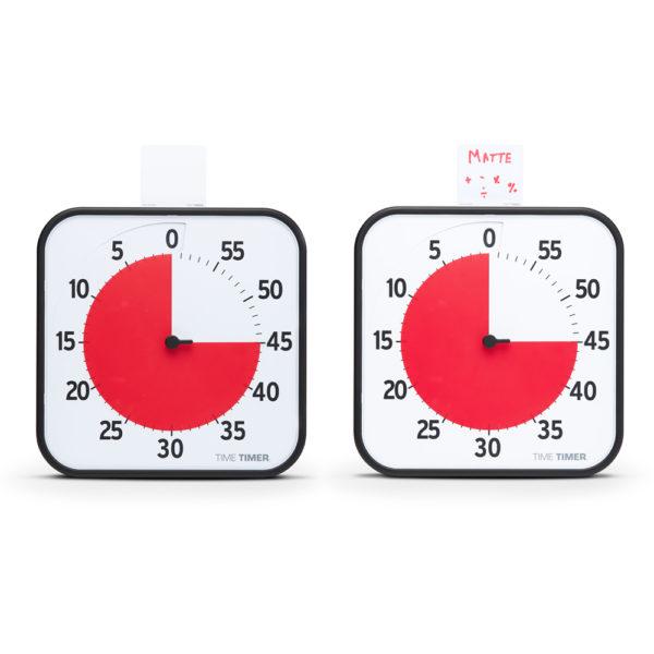 Time Timer Large med vita whiteboard-kort för bildstöd till ditt tidshjälpmedel.