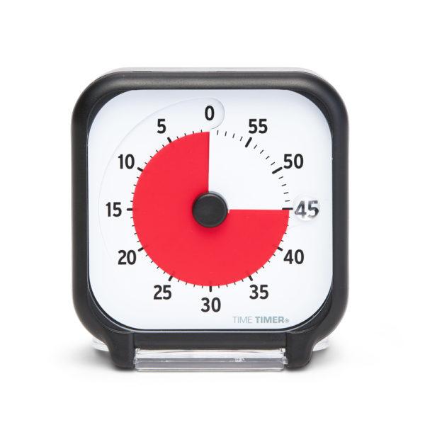 Time Timer Pocket visuellt tidshjälpmedel som visar tiden genom en röd skiva som försvinner när tiden går
