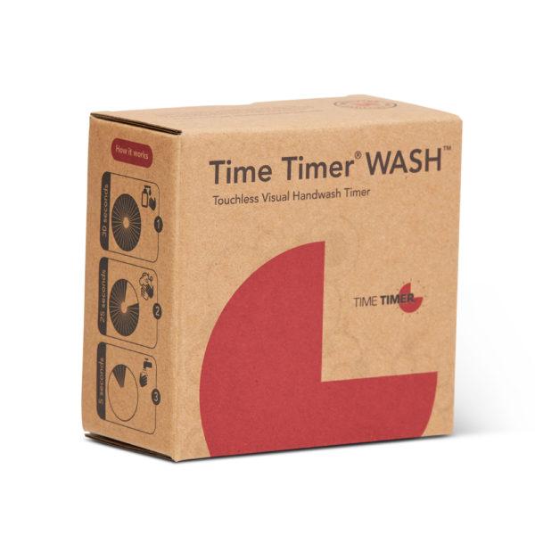 Förpackningen som Time Timer WASH levereras i.