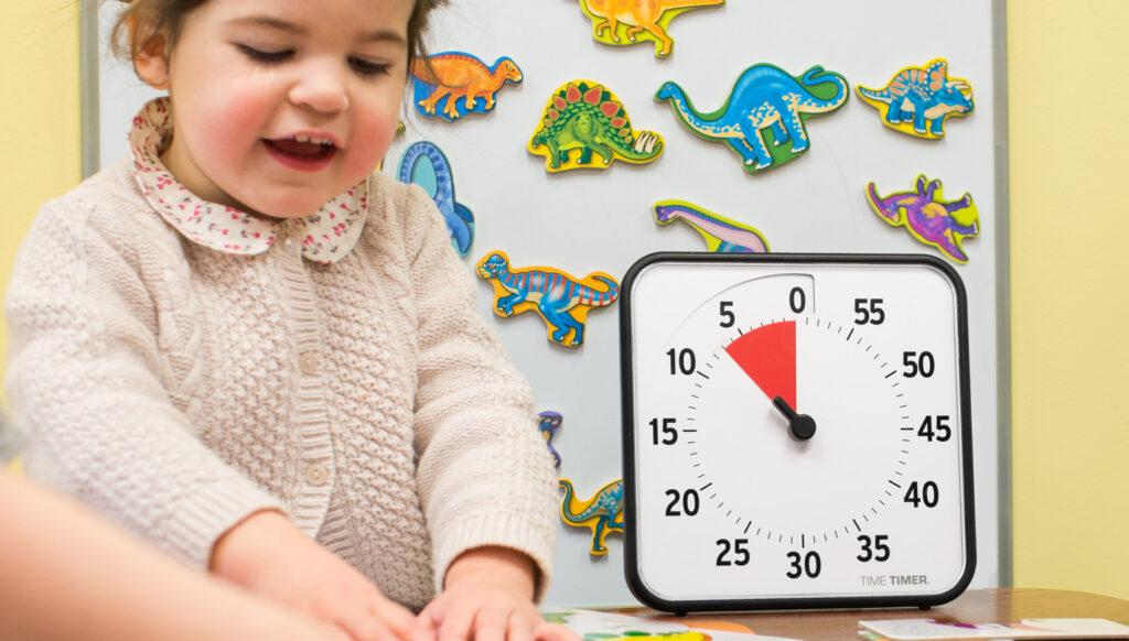 Time Timer Medium i en förskola med barn