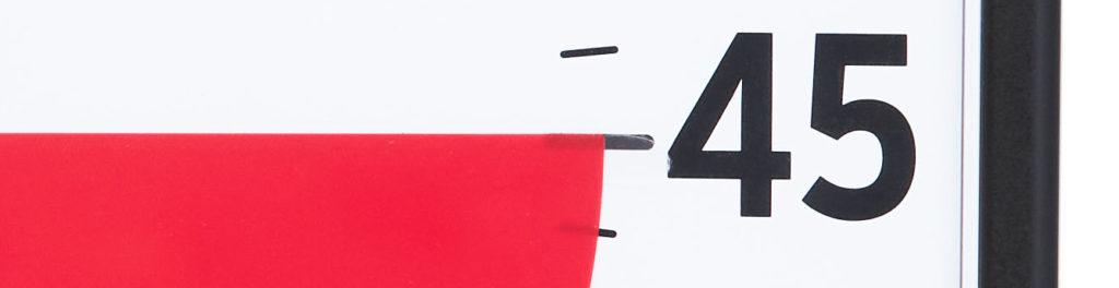 Transparent stoppkloss för den röda skivan på Time Timer Large