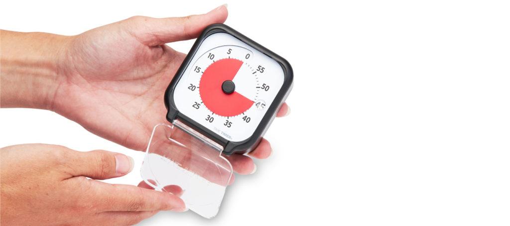 Time Timer Pocket har ett nytt plexiglasskydd