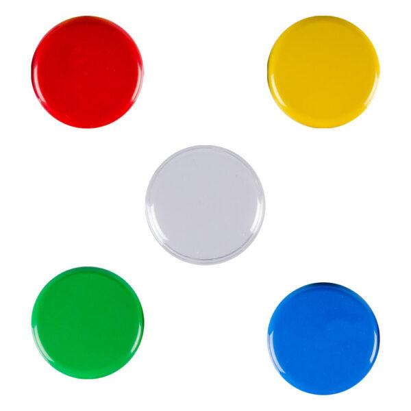 BIG Step-by-Step innehåller fyra färgade lock och ett transparent lock